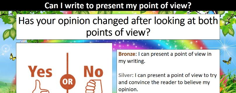 Writing to present a point of view SOL