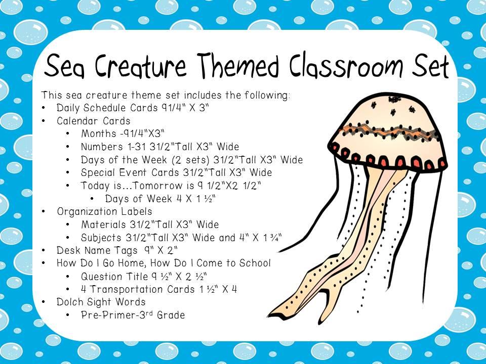 Classroom Display Set - Sea Life Theme