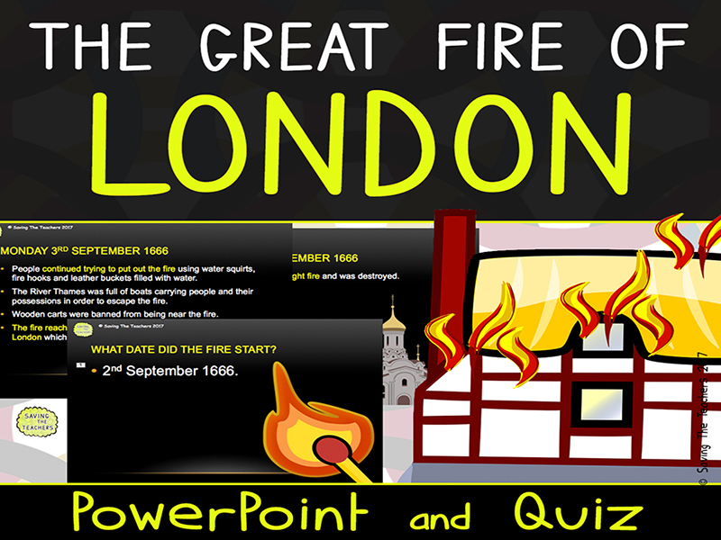 The Great Fire of London PowerPoint and Quiz
