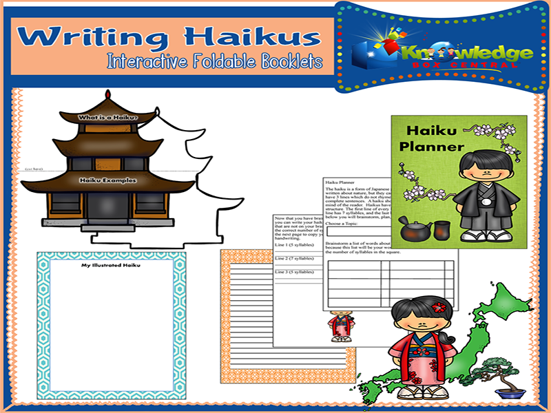 Writing Haikus Interactive Foldable Booklets