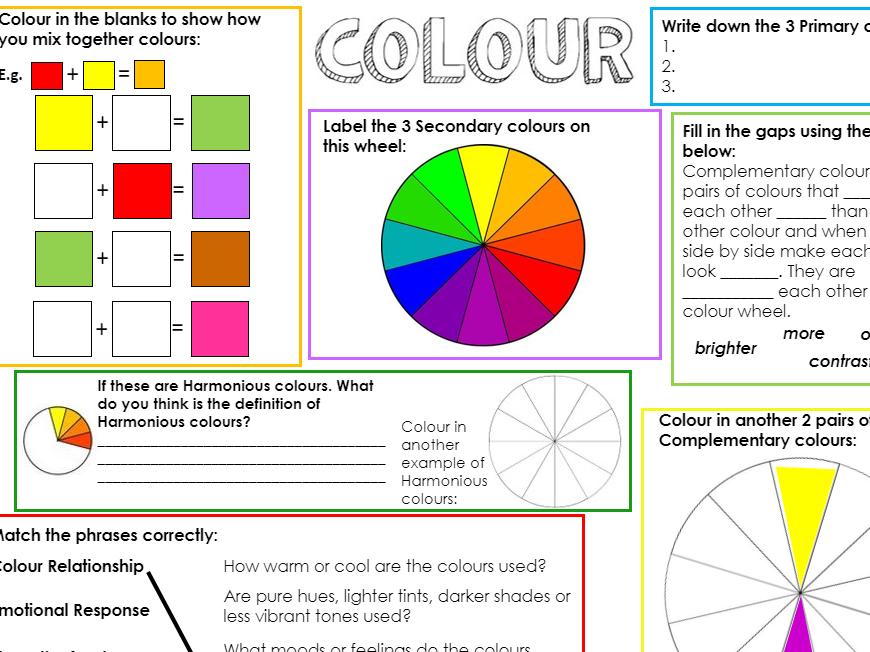 Art Formal Elements Worksheet Booklet - Independent Starter Tasks KS3 Homework