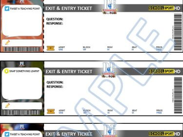 Sports Entry and Exit Ticket Templates   PE4Learning