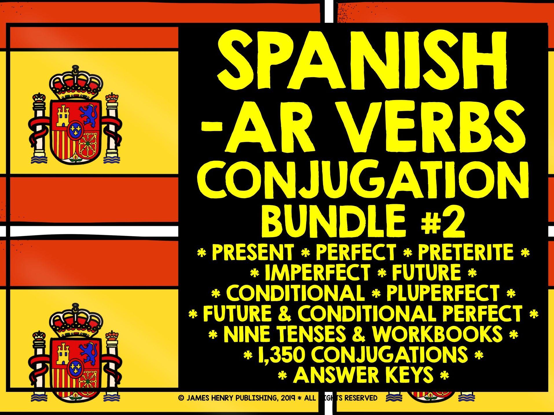 SPANISH AR VERBS ALEVEL CONJUGATION PRACTICE BUNDLE #2