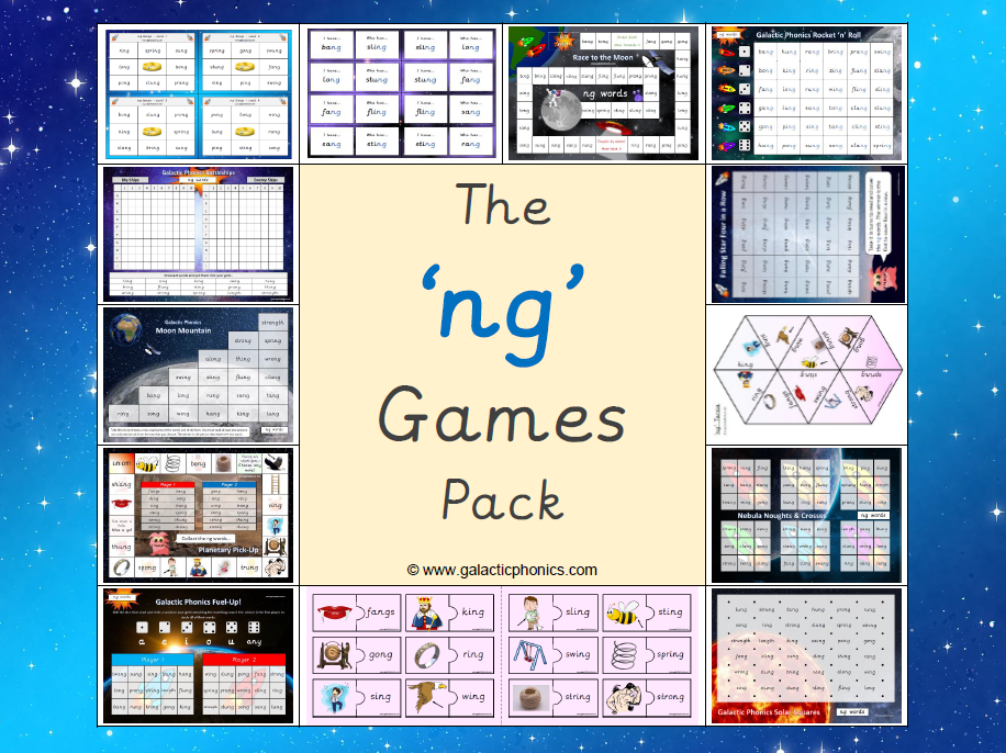 The 'ng' Phonics Games Pack