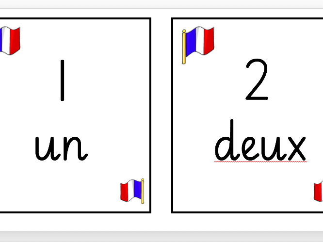 French Number Display to 100