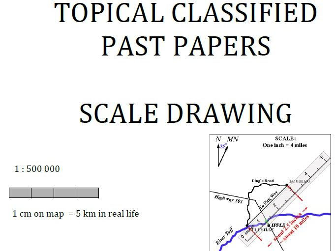 Cambridge Lower Secondary Checkpoint Topical Classified Past Papers-Mathematics-Scale Drawing