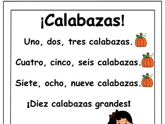 ¡Calabazas! - Spanish Pumpkin Number Song -PLUS coordinating printables