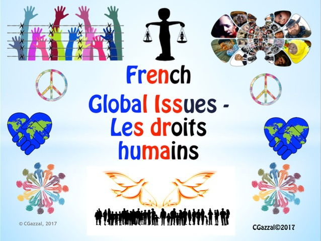 French GCSE Higher/ A' level – Les droits humains – World Human Rights Day – 10th December.