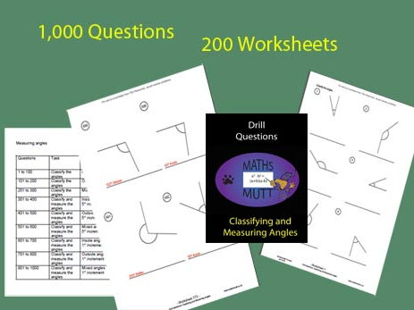 Drill Questions: Classifying and Measuring Angles