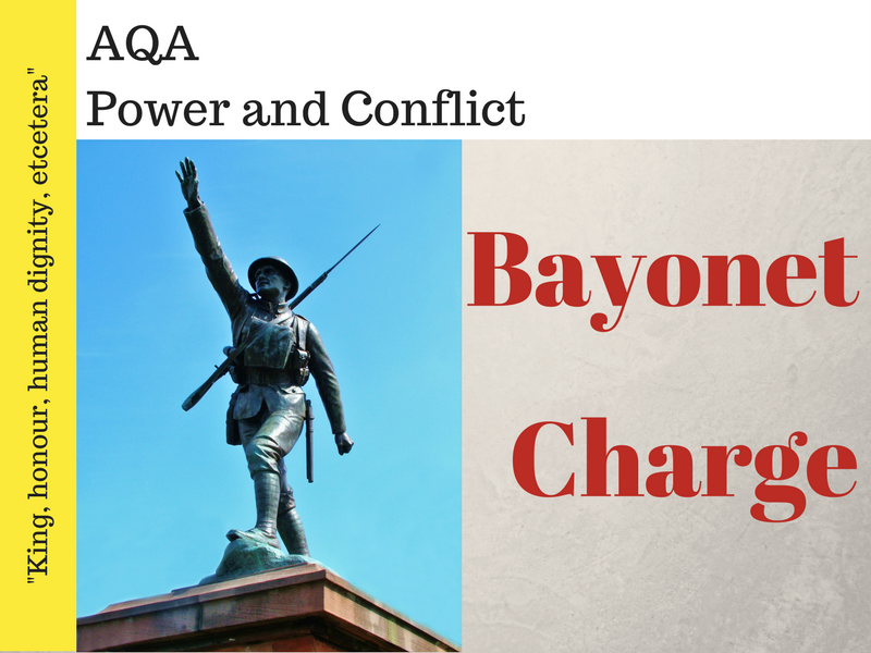 Bayonet Charge - Power and Conflict Poetry - War Poems - Lessons 7 & 8