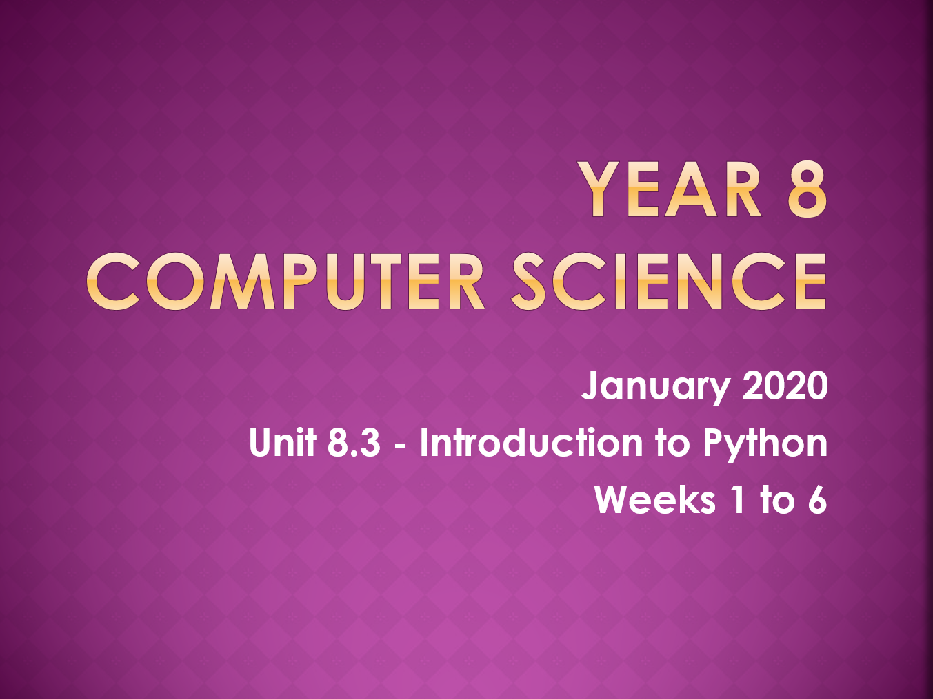 Complete Computer Science KS3 SOW: Programming in Python