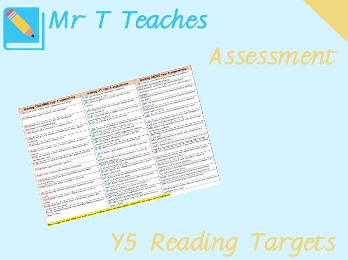 Year 5 ReadingTargets Assessment