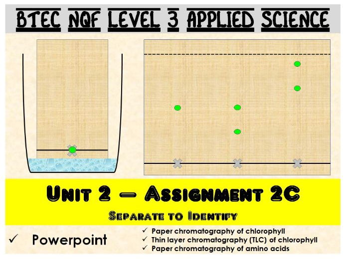 BTEC NQF L3 Applied Science: Unit 2: Assignment C: Chromatography powerpoint