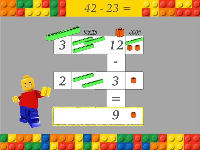 KS2 Column subtraction powerpoint or keynote presentation (with and without exchanging)