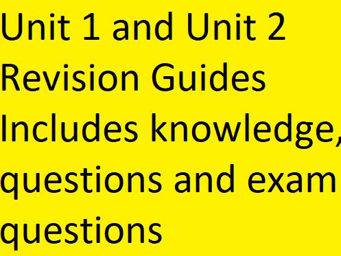 Eduqas GCSE Sociology Unit 1 and Unit 2 Revision Guides Home Learning