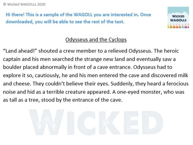 Ancient Greek Myth - Odysseus and the Cyclops