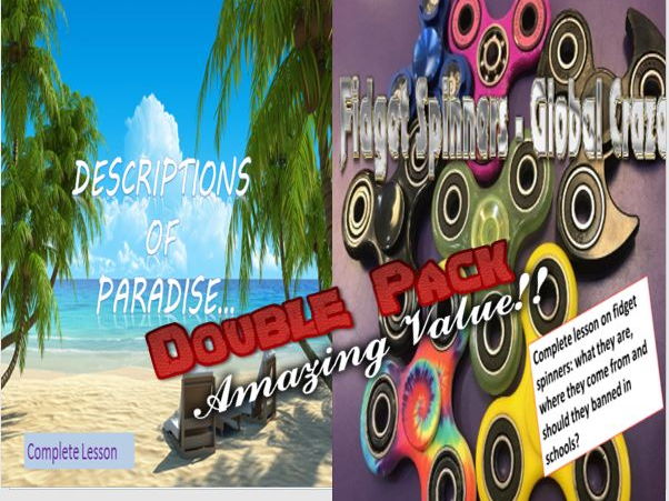 Paradise Descriptive Writing and Fidget Spinners Double Pack with Starters