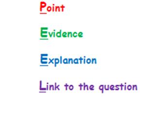 KS5 - Paragraph Structure - How do you explain using evidence?