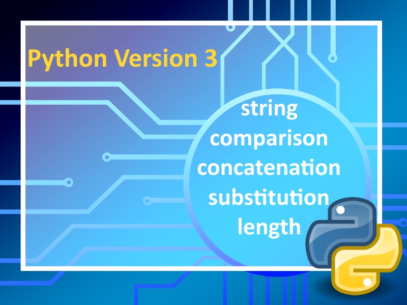 Python 3: String Handling Lesson 2 with instructional videos