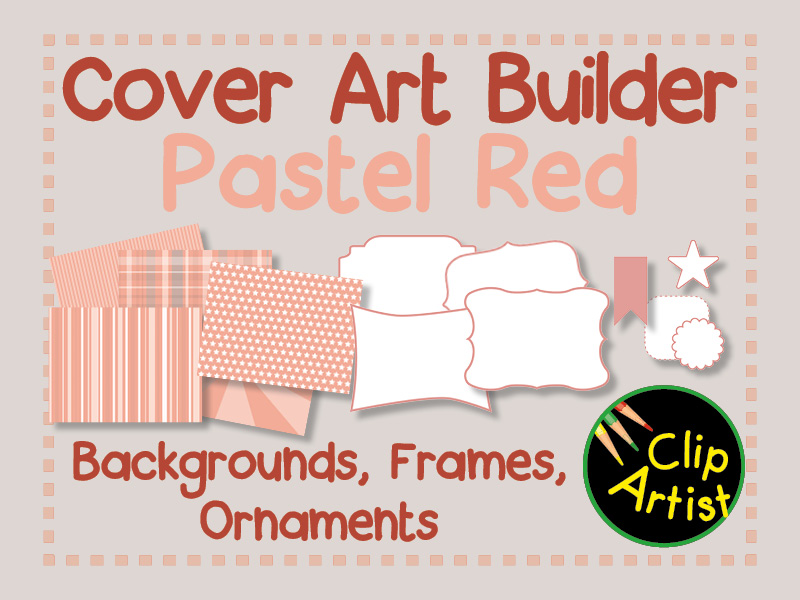 Cover Builder for Authors and Presentations - Pastel Red