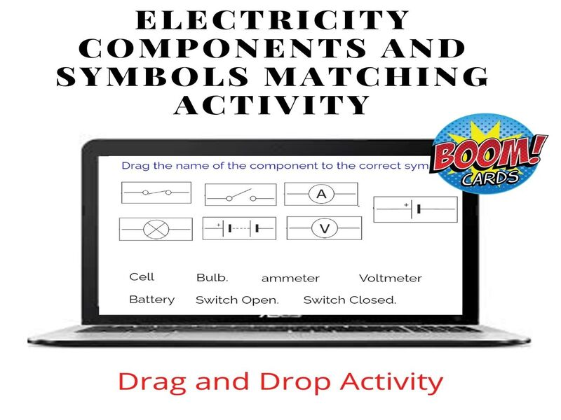 Match Electrical Components and Symbols-Boom Cards