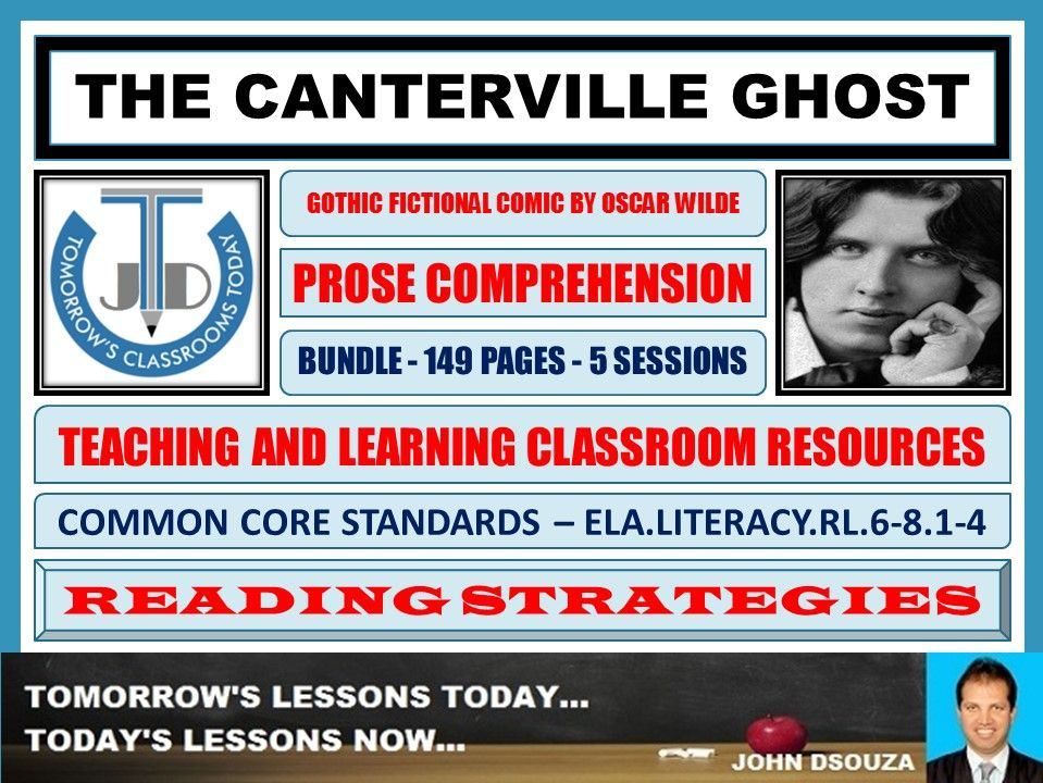 THE CANTERVILLE GHOST - COMPREHENSION CLASSROOM RESOURCES - BUNDLE