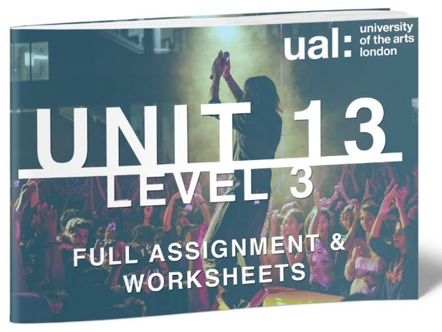 UAL-Level 3-Unit 13-Extended Project in Music Performance and Production-FULL UNIT
