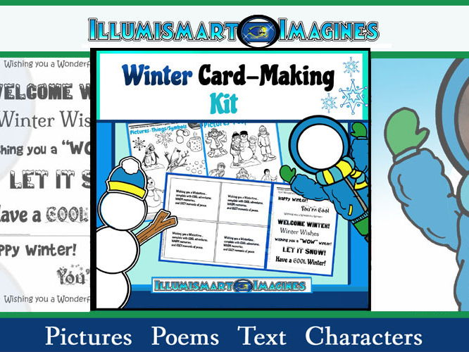 Winter Card-Making Kit! Poems, Pictures, Text, & Characters!