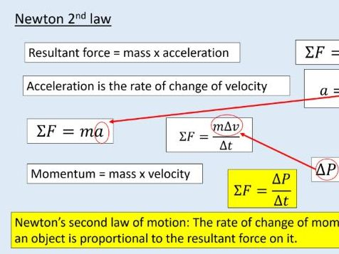 AQA GCSE Physics (4.5.7.3)  Forces - Changes in momentum