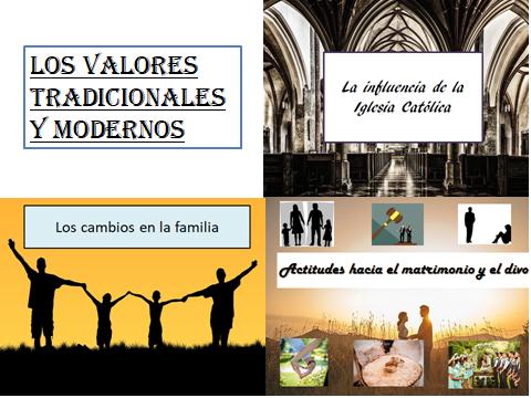 AS Los valores tradicionales y modernos