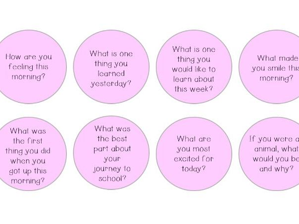 Morning and End of the Day Questions!