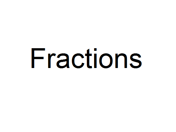 Fractions worksheet with answers