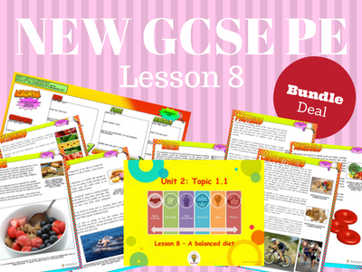 NEW Edexcel GCSE PE Unit 2 - Topic 1 - Lesson 8 BUNDLE PACK
