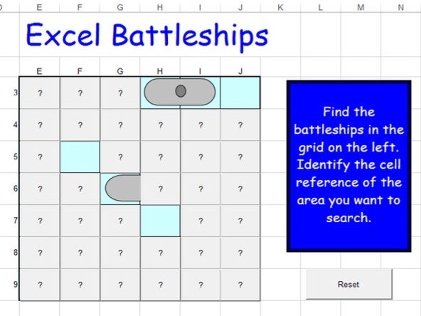 Excel Battleships