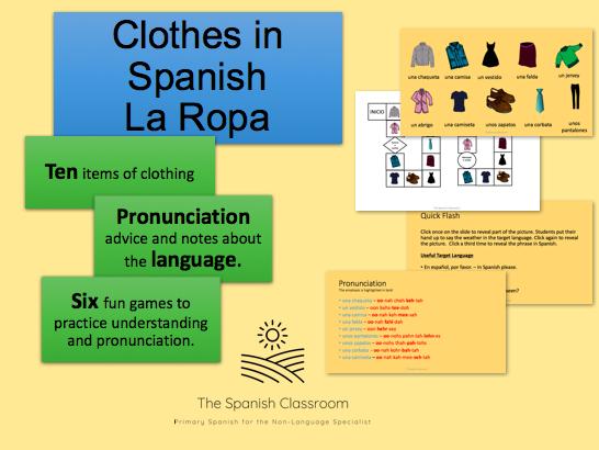 Clothes in Spanish – La Ropa