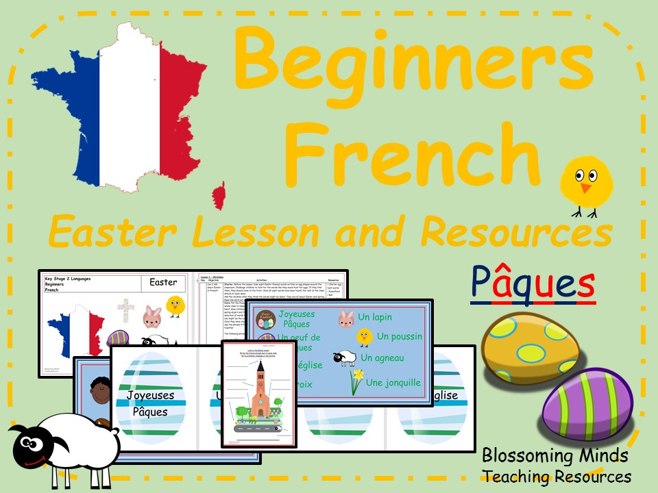 Pâcques - Easter - French lesson pack - KS2
