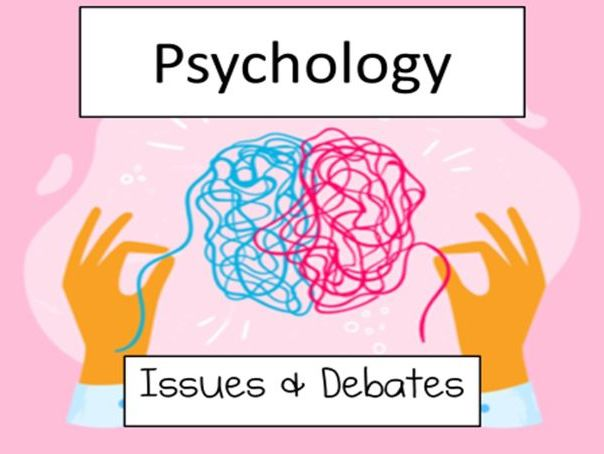 Issues and debates- full unit- every lesson with scheme of work