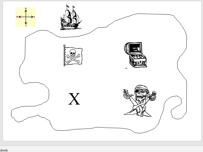 Pirate Treasure Map - Practising compass directions and instructions