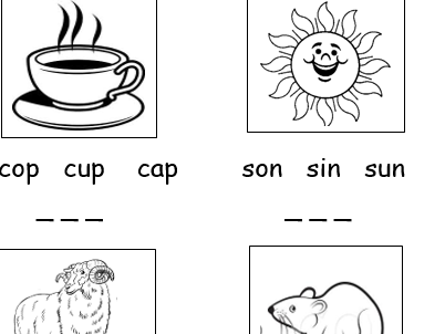 Find the correct word (Phonics Phase 2 KS1)