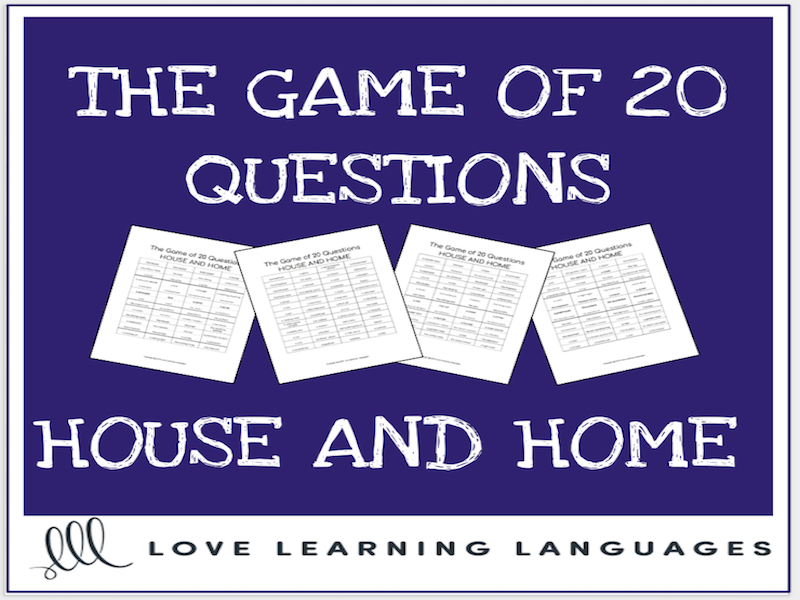House and Home 20 questions games - No prep ESL speaking activities
