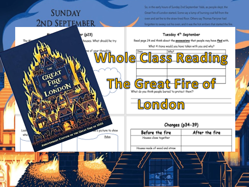 The Great Fire of London - Whole Class Reading