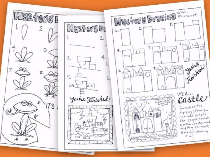 Mystery Drawings | Guided Drawing Activity