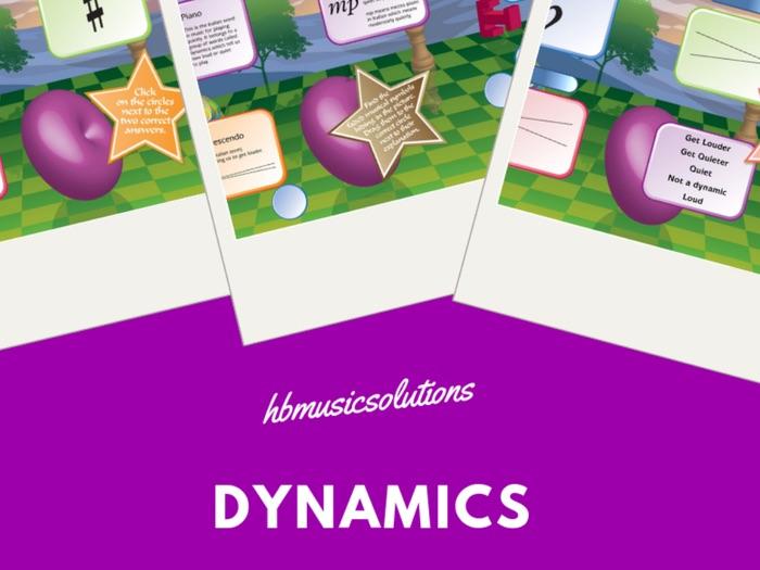 Dynamics Units 1 - 10 Music Interactive Games
