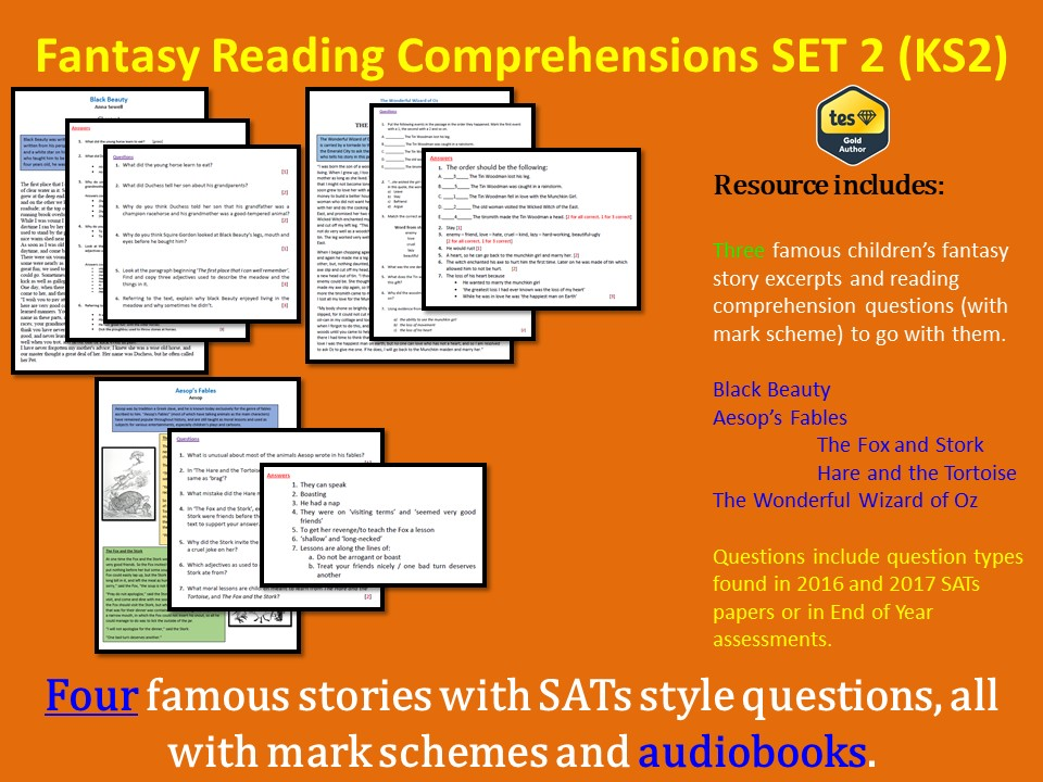 Reading Comprehensions SET 2 (KS2) - With Mark Schemes