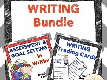 Writing Bundle: Trading Cards, Assessment, and Goal Setting Templates