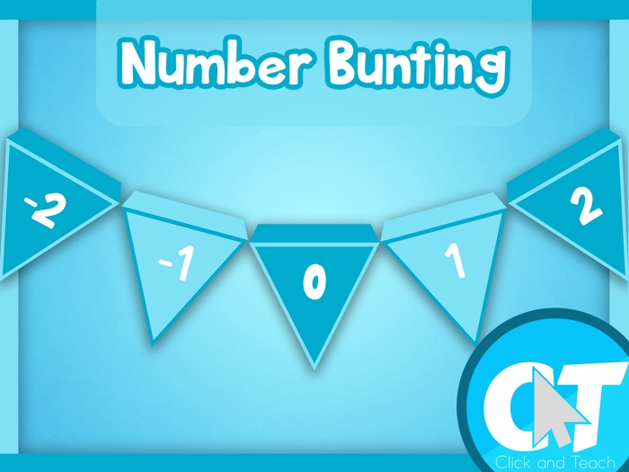 Number Line Bunting (-20 to 20)