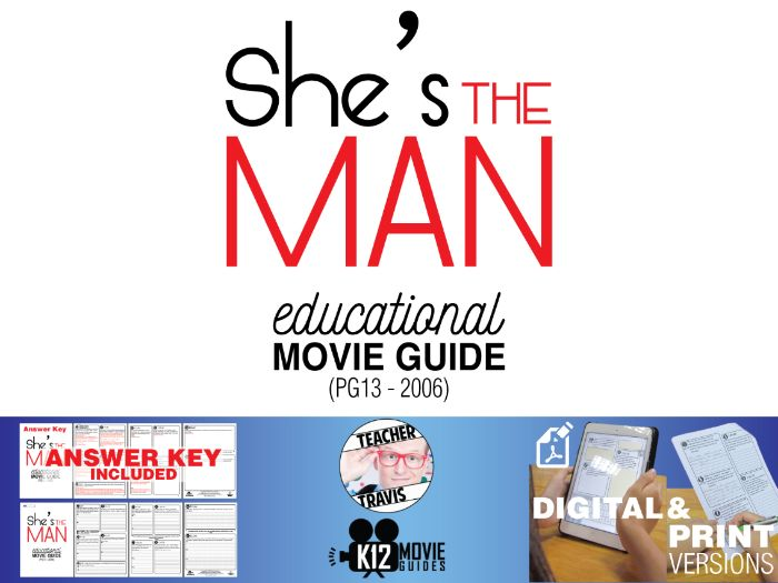 She's The Man Movie Guide | Questions | Worksheet (PG13 - 2006)