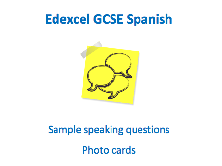 Edexcel - Spanish GCSE Speaking - Photocard Workbook