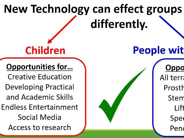 Edexcel Design and Technology AC1.1 The Impact of new and Emerging Technologies