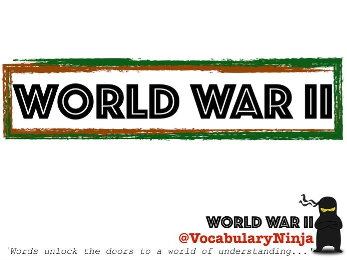 World War Two Topic Vocabulary Pack